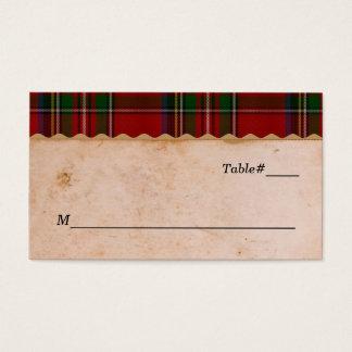 Rustic Royal Stewart Plaid Wedding Place Cards