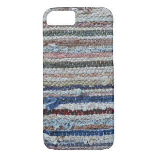 rustic rug texture textile homemade carpet pattern iPhone 8/7 case
