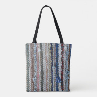 rustic rug texture textile homemade carpet pattern tote bag
