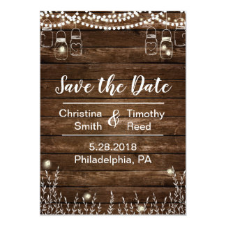 Rustic Save the Date Card for Country Weddings