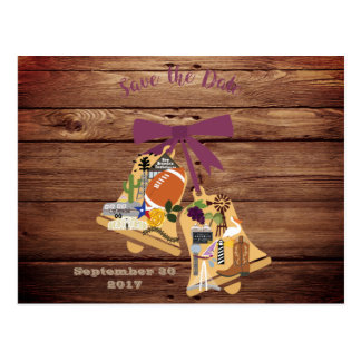 Rustic Save the Date Postcard