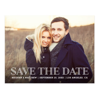 Rustic Save the Date Postcard - Custom Color Back