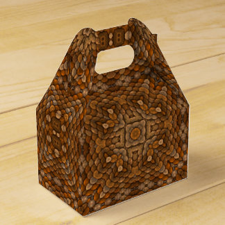 Rustic Scales Kaleidoscope  Gable Favor Box Wedding Favour Boxes