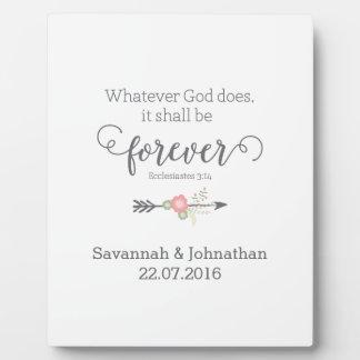 Rustic Scripture Christian Art Wedding Gift Photo Plaques