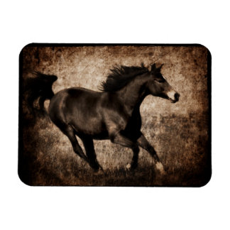 Rustic Sepia Galloping Horse Magnet