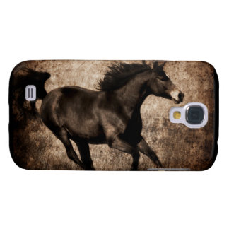 Rustic Sepia Galloping Horse Samsung Galaxy S4 Case