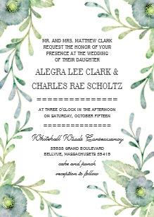 9838b091d72 Rustic Serenity Blue Watercolor Wedding Invitation