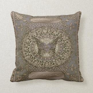 Rustic Shabby Chic Art Deco Throw Cushion