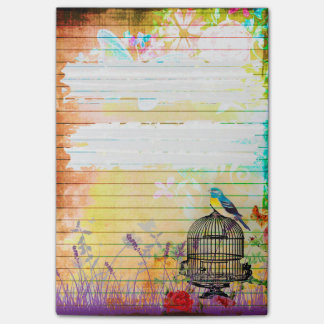 Rustic Shabby Chic Colourful Vintage Floral Post-it® Notes
