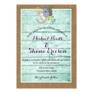 Rustic / Shabby Chic/ Nautical/ Wedding Invitation
