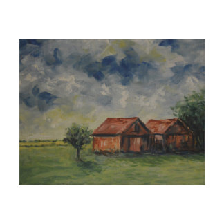 Rustic Sheds Canvas Print