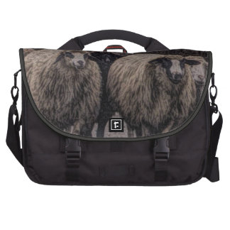 Rustic sheep on road bag for laptop