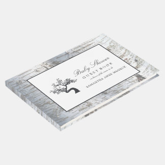 Rustic Silver Birch Tree Baby Shower Guest Book