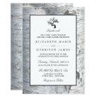 Rustic Silver Birch Tree Wedding Card