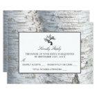 Rustic Silver Birch Tree Wedding RSVP Card
