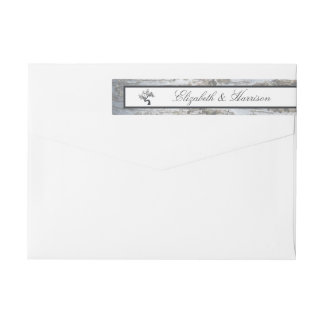 Rustic Silver Birch Tree Wedding Wraparound Return Address Label
