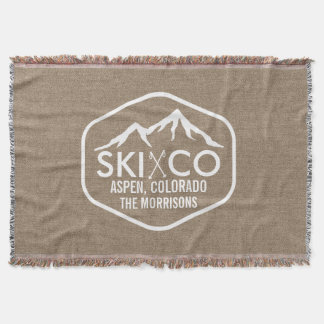 Rustic Ski Lodge Mountain Aspen Colorado Burlap