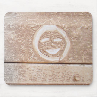 Rustic smile smiley face mud muddy dirt dirty face mouse pad