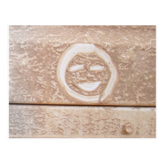 Rustic smile smiley face mud muddy dirt dirty face postcard