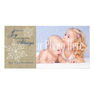 Rustic Snowflakes and Burlap Card