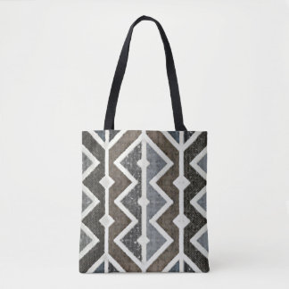 Rustic Southwestern Grey and Brown Tote Bag