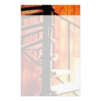 Rustic Spiral Staircase at Cabin Customized Stationery