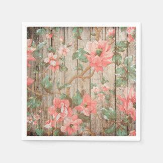Rustic Spring Blossoms Wedding Paper Napkins