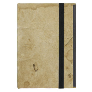 Rustic Stained Parchment Paper Blank Background Cover For iPad Mini