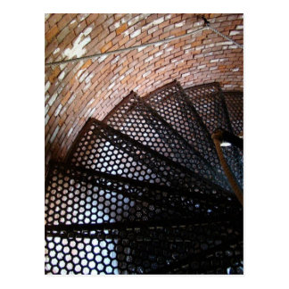 Rustic Staircase with Rope Handrail Postcard