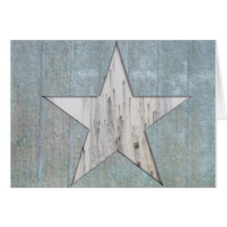 Rustic Star Greeting Card