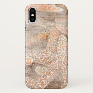 Rustic Starfish Brown iPhone X Case
