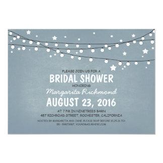 Rustic Starry Night Lights Bridal Shower Custom Announcement