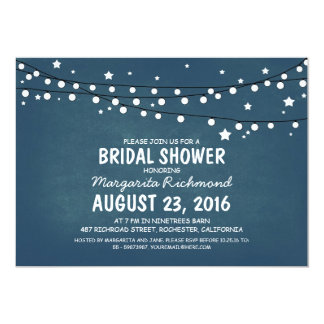 Rustic Starry Night Lights Bridal Shower Personalized Invites
