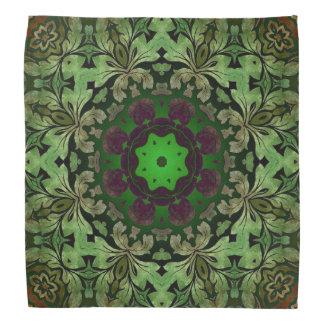 rustic steam punk green damask pattern do-rags