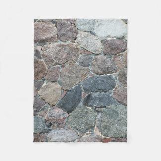 rustic stone fleece blanket