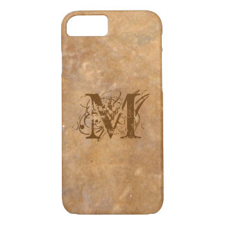 Rustic Stone Initial Look iPhone 8/7 Case