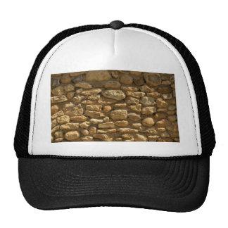 Rustic Stone Wall Mesh Hats