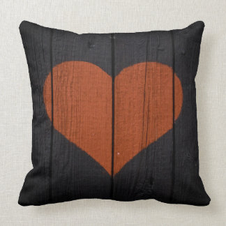 Rustic Style Heart Pillow