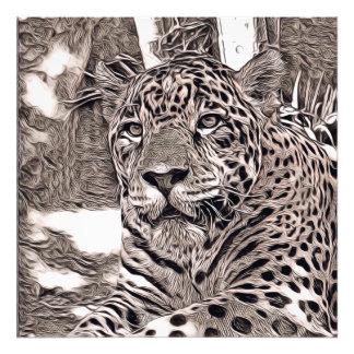 rustic style - jaguar photo print