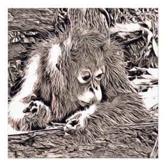rustic style - orang baby photo print