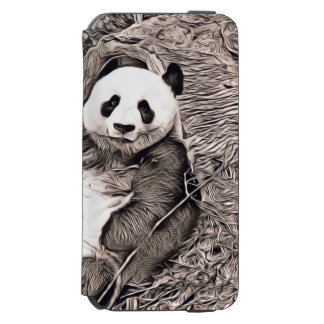 Rustic Style - Panda Incipio Watson™ iPhone 6 Wallet Case