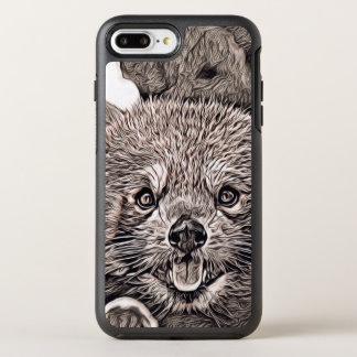 Rustic Style - Red Panda 2 OtterBox Symmetry iPhone 8 Plus/7 Plus Case