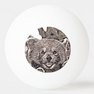 Rustic Style - Red Panda 2 Ping Pong Ball