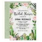 Rustic Succulent Cactus Bridal Shower Invitation