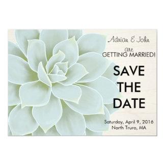 Rustic Succulent Save the Date Card