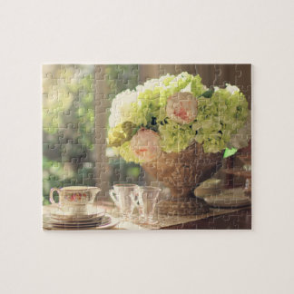 Rustic Summer Tea Party Still Life Puzzle