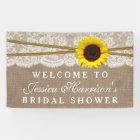 Rustic Sunflower, Burlap & Lace Bridal Shower Banner