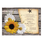 Rustic Sunflower Daisy Wedding Reception Only Card