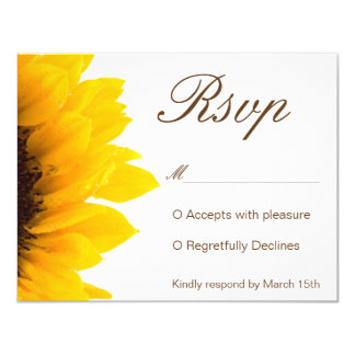 Rustic Sunflower Invitation RSVP