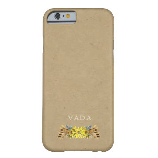 Rustic Sunflower Monogram Barely There iPhone 6 Case